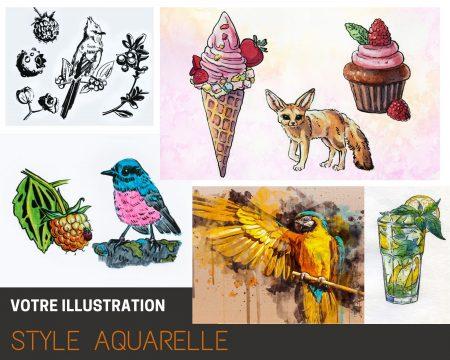 Votre illustration Style peinture à eau